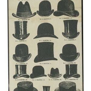 Onlinepartycenter Wall Art - Vintage Style Hats Framed Wall Art